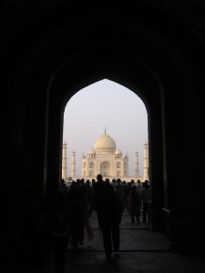 This is the first view one has when visiting the Taj Mahal