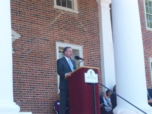 Virginia Governor Kaine speaks at Montpelier
