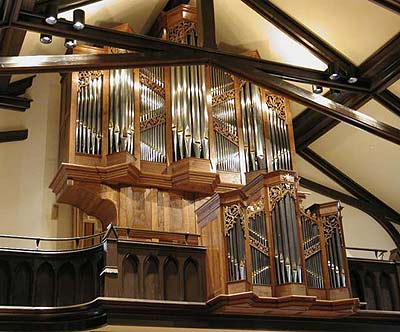 Taylor and Boody Organ in Trinity Episcopal Church, Staunton, VA (photo credit: Taylor & Boody)