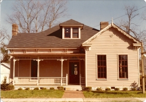 Bearden-Brown House in Franklin Shortly After Restoration in 1981