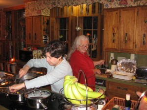 Candice & Margaret Cooking at Thanksgiving 2007