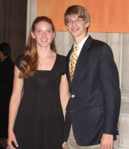 Claire and Andrew, November 2008
