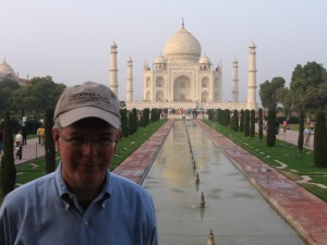 David at the Taj Mahal