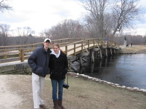 Andrew and Claire at the Bridge at Concord, March 2008