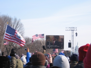 Claire's View of the Inauguration