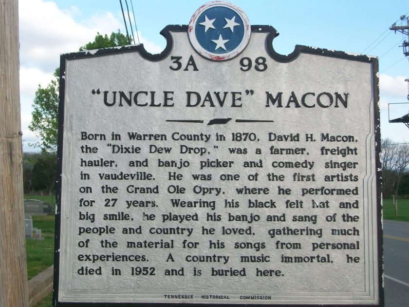 Uncle Dave Macon Historical Marker