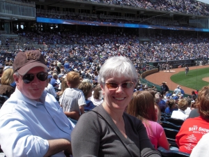 Dolores and DJB at Kauffman Stadium