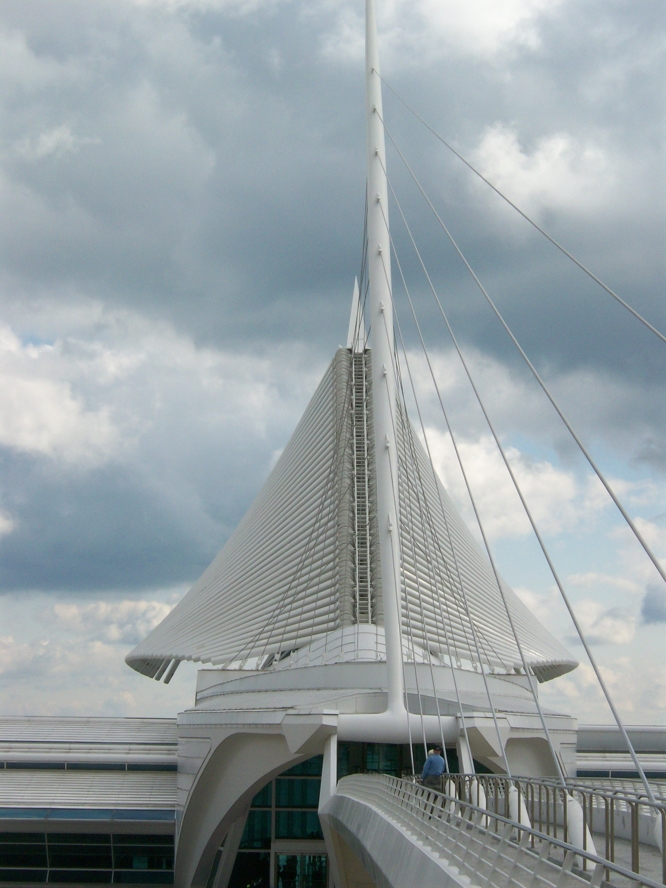 Calatrava's Milwaukee Art Museum With the Wings Almost Completely Lowered