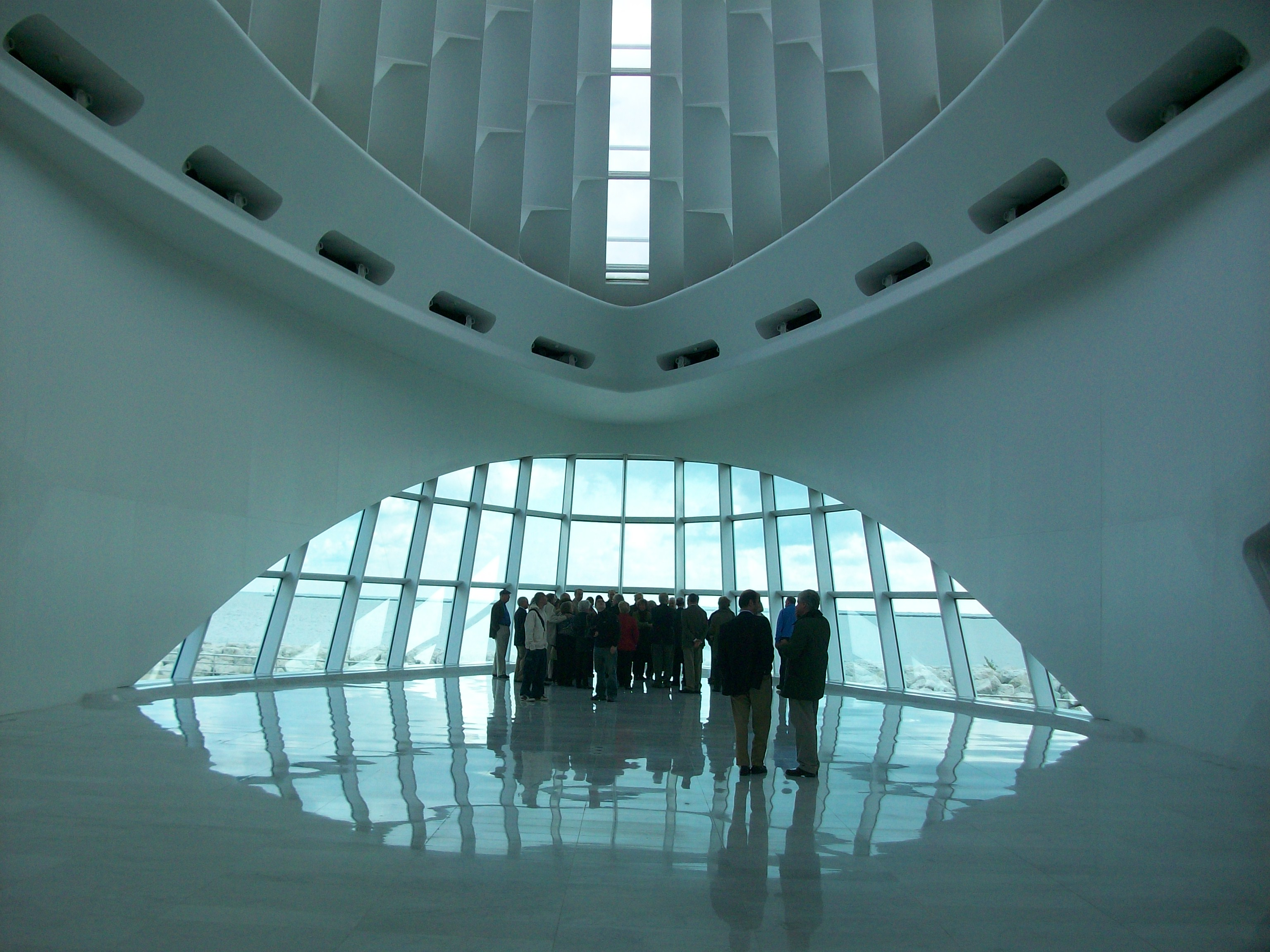 Calatrava's Milwaukee Art Museum View Toward the Lake