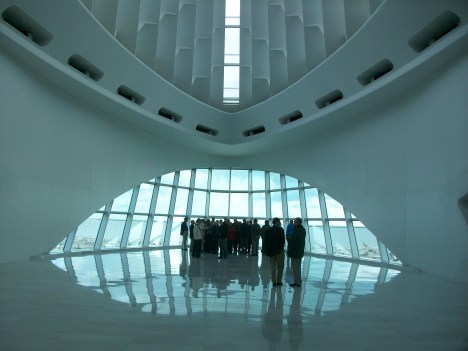 Calatrava's Milwaukee Art Museum View Toward the Lake