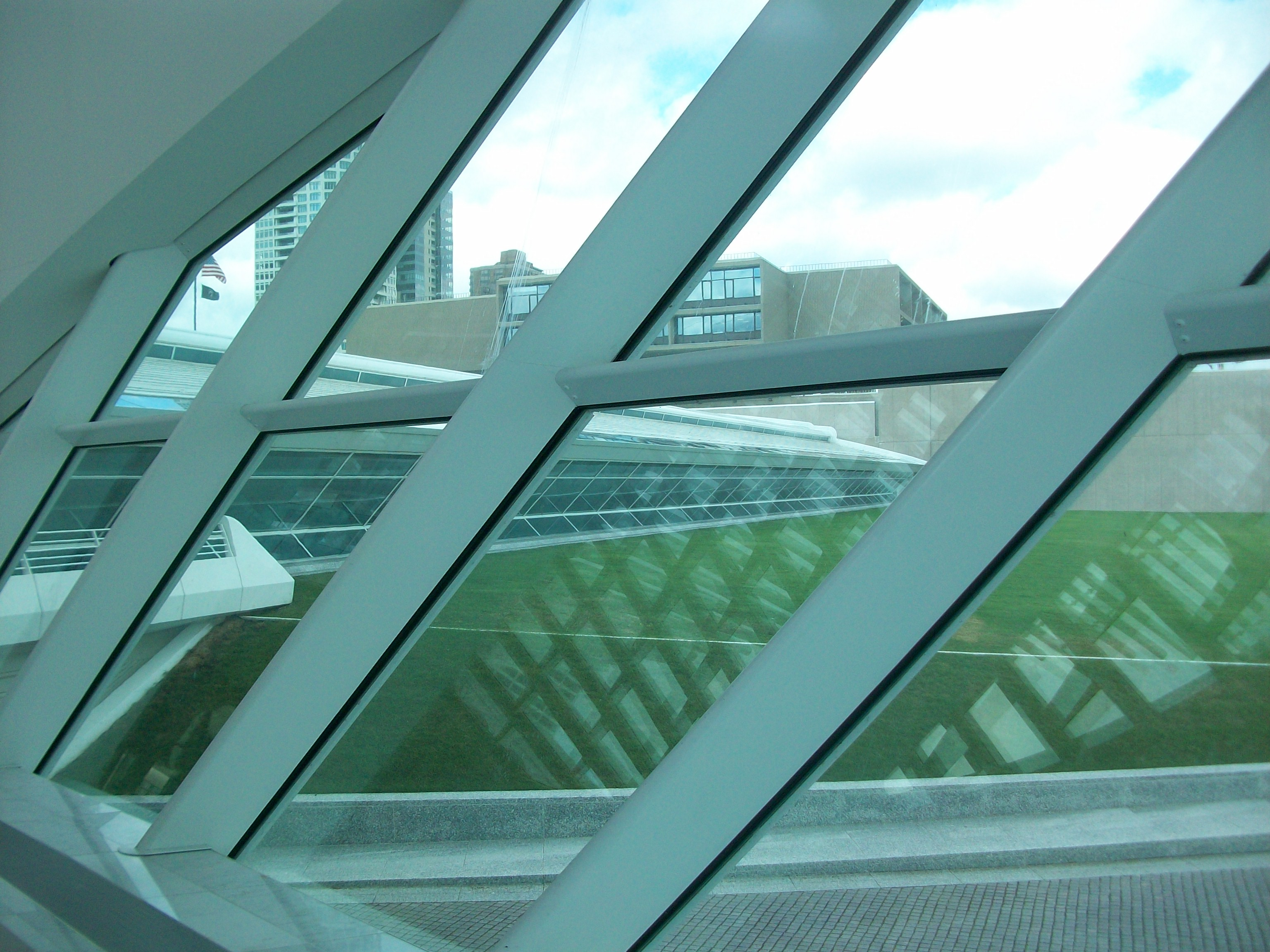 Calatrava's Milwaukee Art Museum View of the Wing from Inside