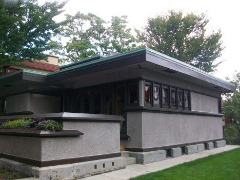 FLW's American System House on Burnham Street in Milwaukee - Exterior
