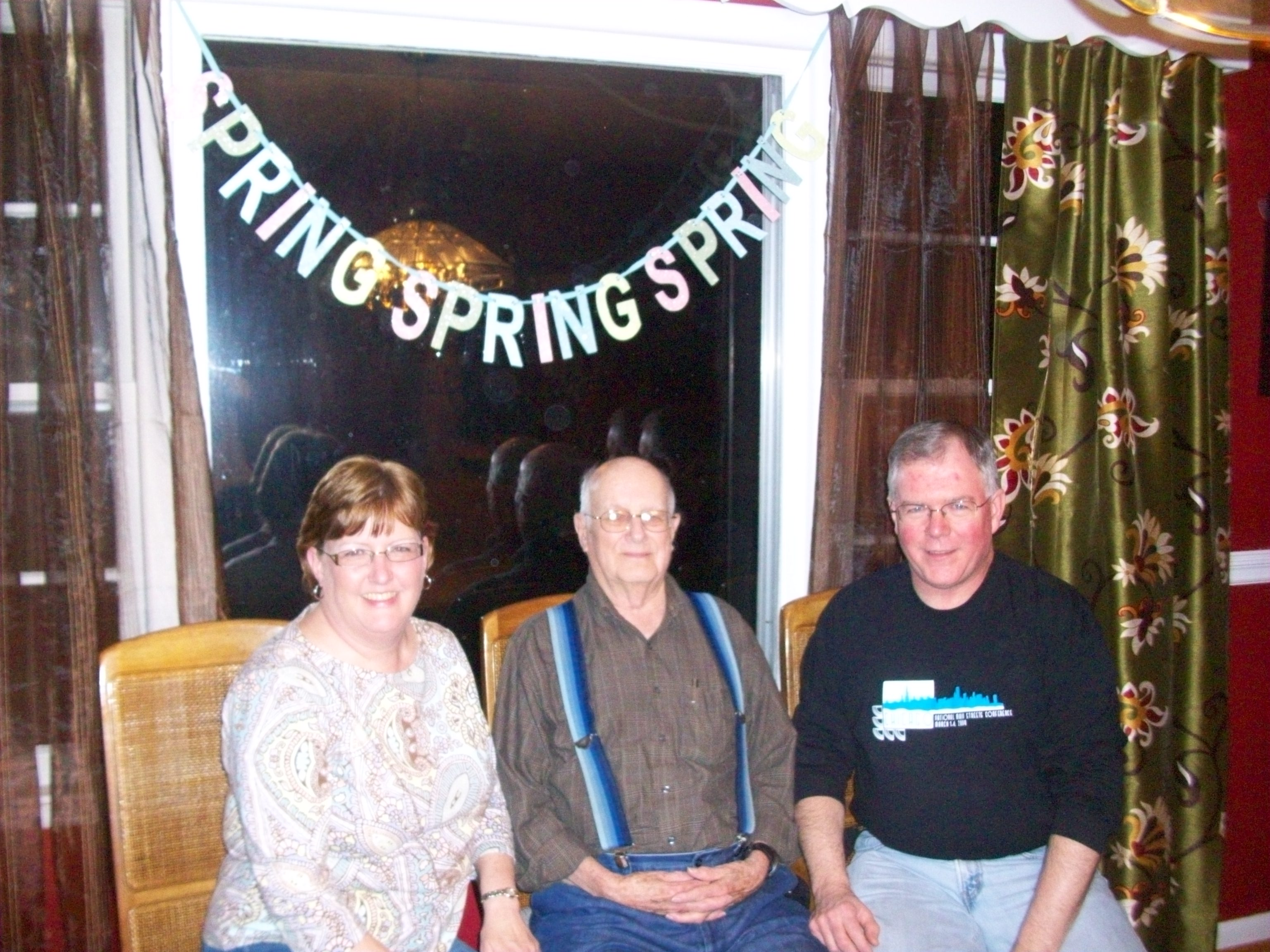David with his father and sister Debbie in March 2009