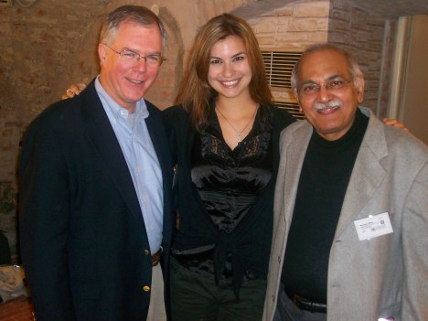 David with S.K. Misra of the Indian National Trust and S.K.'s niece Cezanne in Bratislava