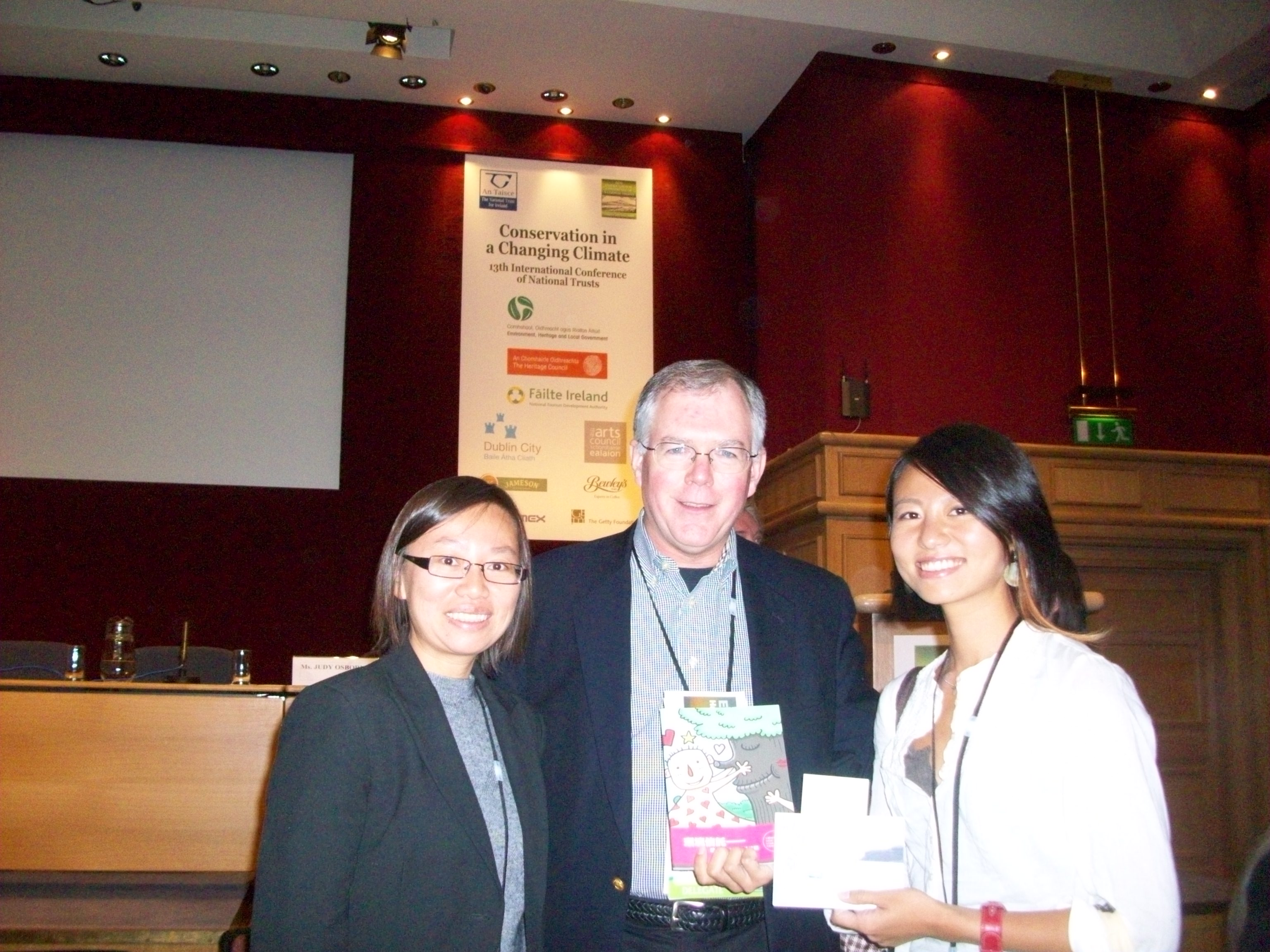 David with colleagues from the National Trust of Taiwan at the International Conference of National Trusts in Dublin, September 2009