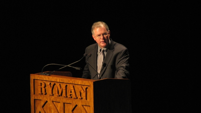 Speaking at the Ryman