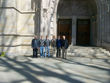 Andrew and other former WNC Choristers with Dr. James Litton (left) at Princeton - Dr. Litton was their first choirmaster at the Cathedral