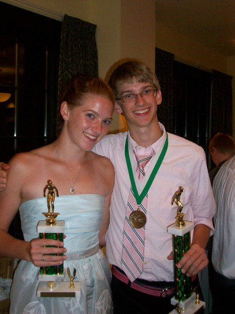At the 2009 Gator Swim Team Banquet