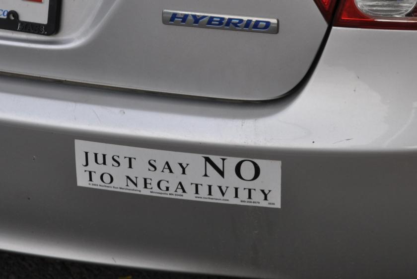 Say No to Negativity