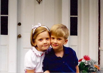 Andrew and Claire on the Front Porch