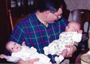 Andrew and Claire with Dad
