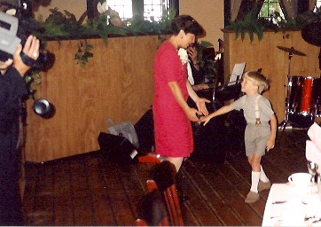 Andrew and Mom dance at Uncle Andy and Aunt Robin's wedding