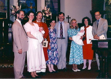 Baptism  with the Godparents1993