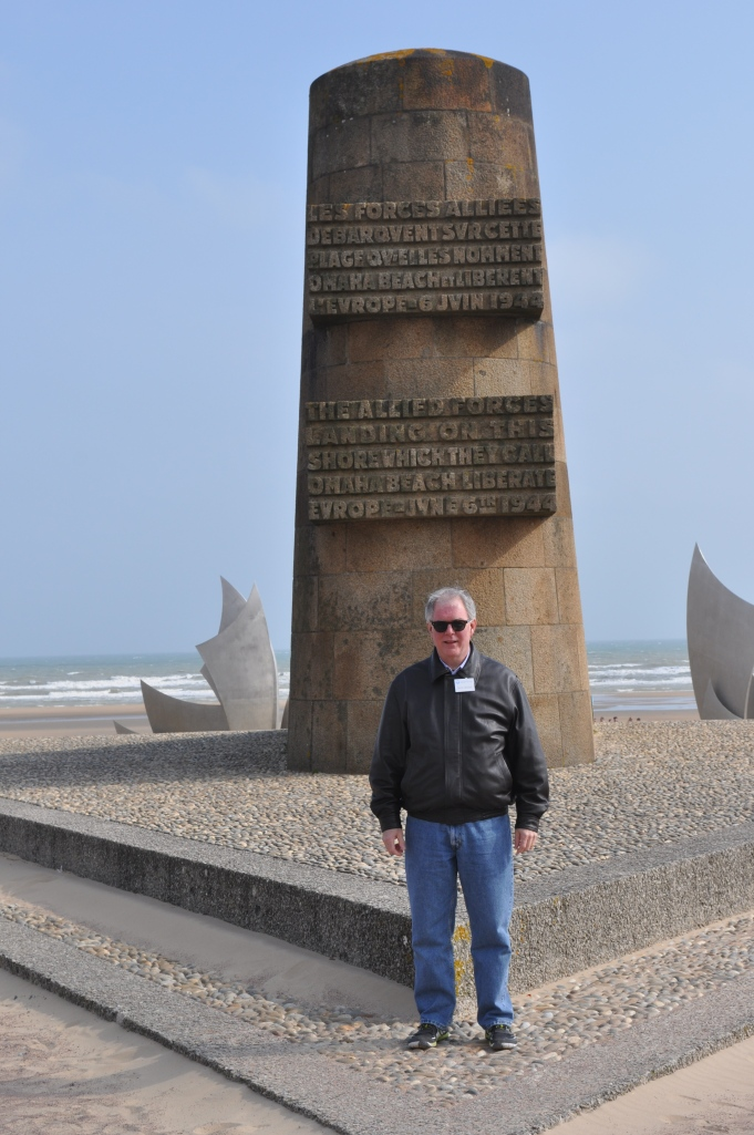 David at Omaha Beach commemorative marker