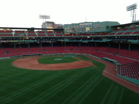 Fenway from the Green Monster seats