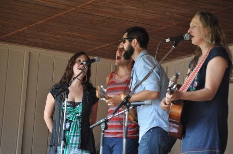 Ana Egge with Sarah Siskind and Members of TSW at Red Wing Festival 2013
