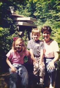Fallingwater with Andrew and Claire May 1998