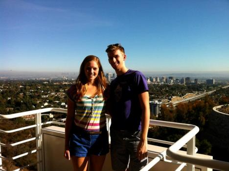 Claire and Andrew at the Getty Center November 2012