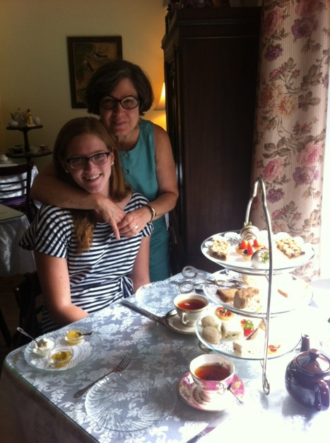 Claire and Candice Tea Time August 2013