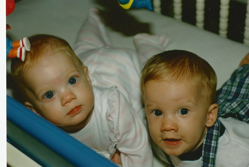 Andrew and Claire in my favorite baby picture 1993