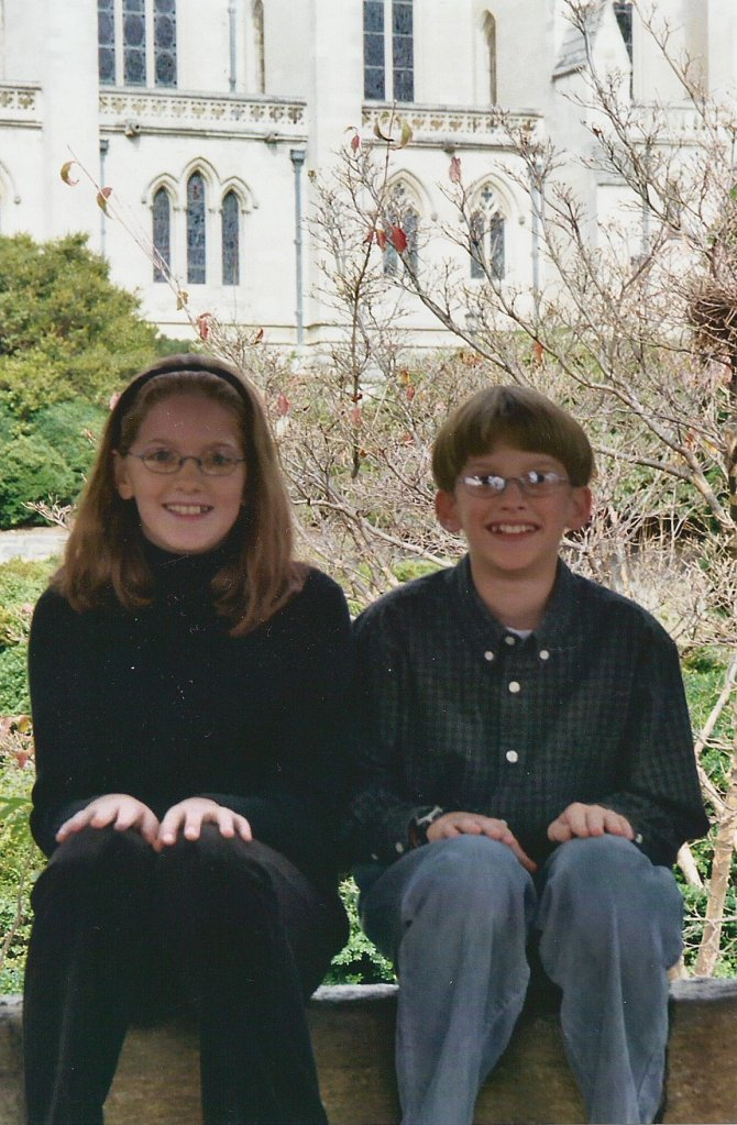 Claire and Andrew at the Cathedral, Fall 2003