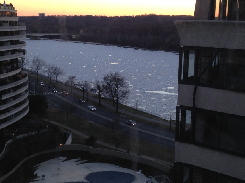 Ice on the Potomac. late afternoon, January 7, 2014