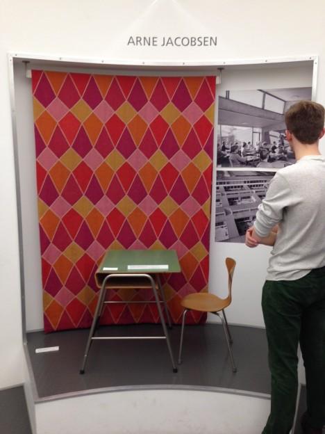 Andrew Studies the exhibits at the  Copenhagen Design Museum