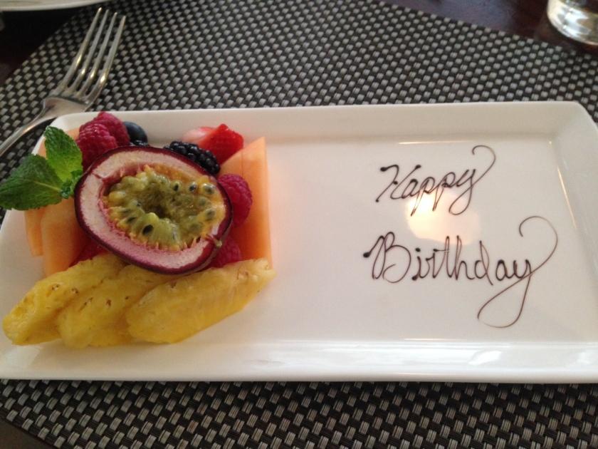 A breakfast birthday
