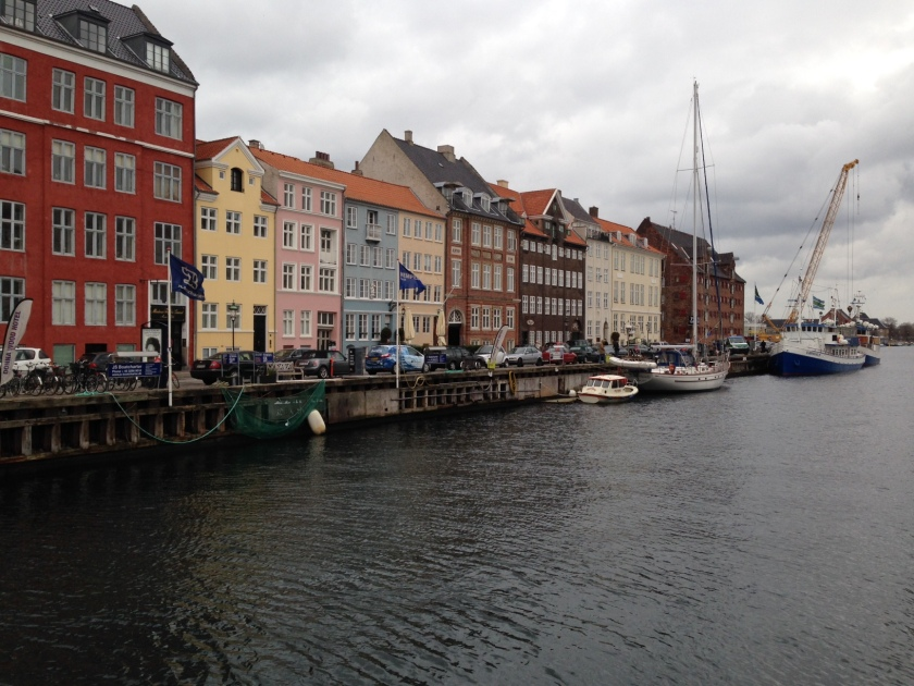 Our apartment was on the canal in Copenhagen