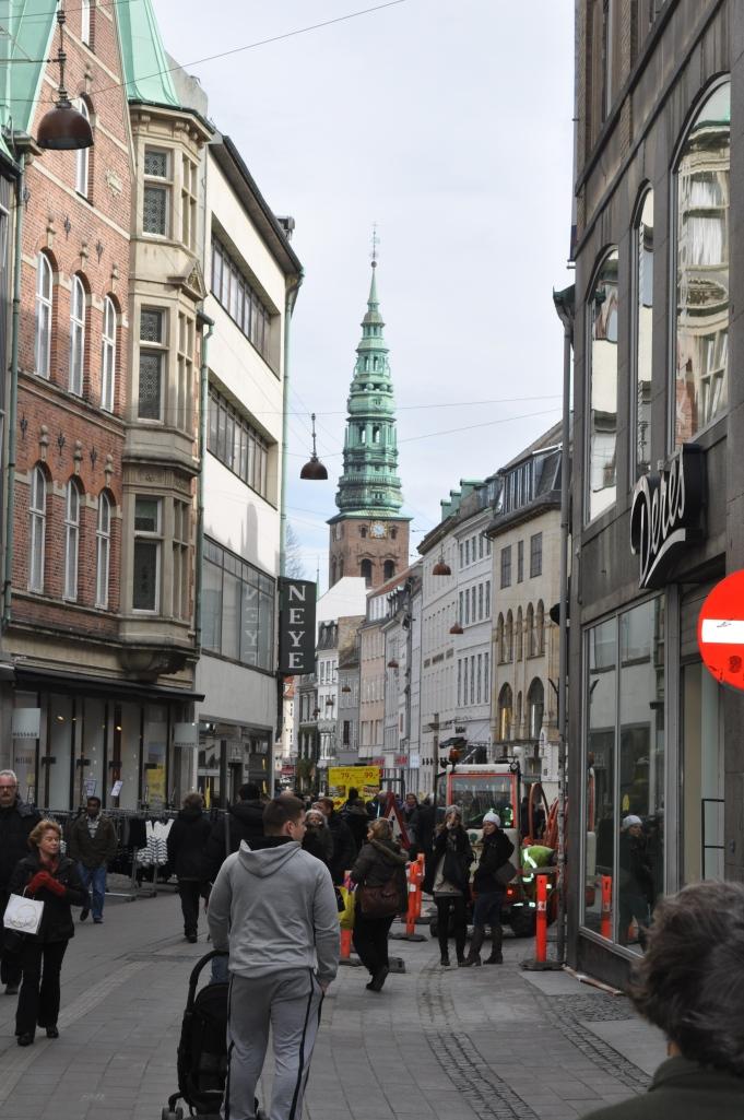 Pedestrian Street in Copenhage