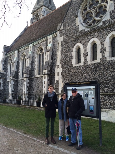 Andrew, Candice and David at St. Albans - in Copenhagen!