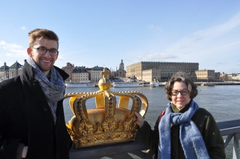 Andrew and Candice in Stockholm March 2014