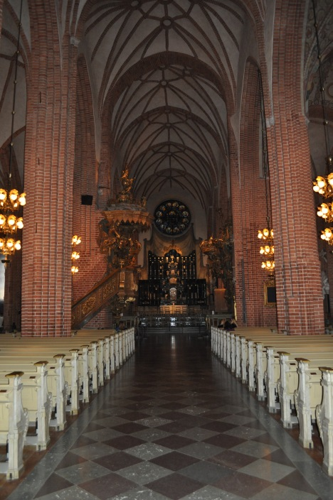 Nave in Stockholm Cathedral March 2014