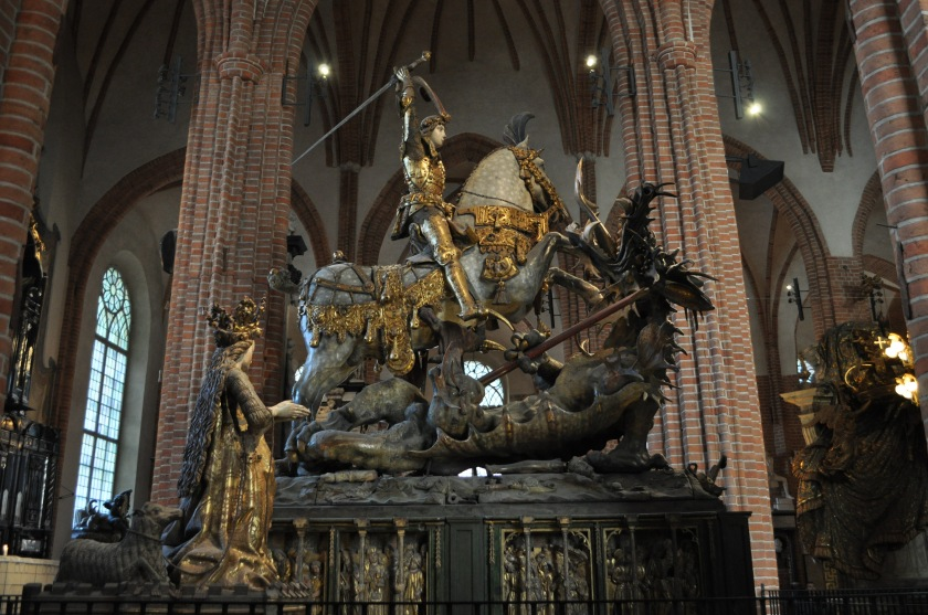 Stockholm Cathedral, St. George and the Dragon, March 2014