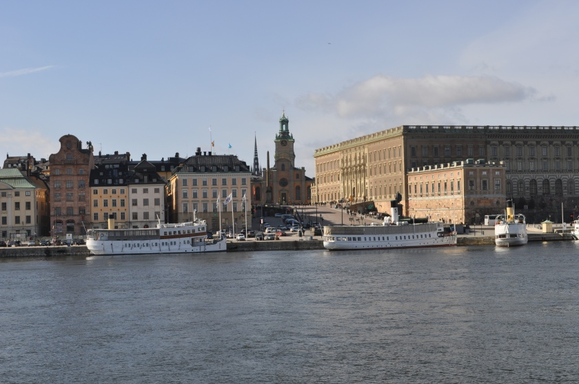 Stockholm Cathedral and Palace from the Water March 2014