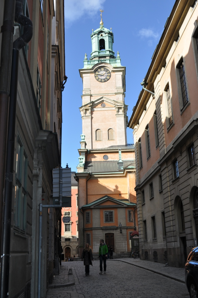 Cathedral Bell Tower in Stockholm, March 2014
