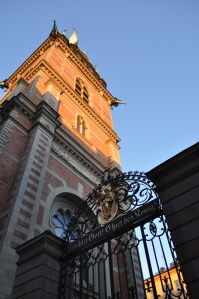 Church in the old city of Stockholm March 2014
