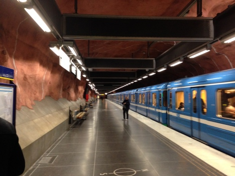 Stockholm Subway Train Station