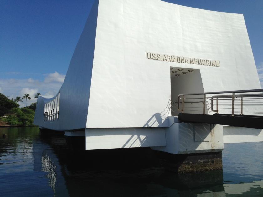 U.S.S. Arizona in Pearl Harbor on Memorial Day Weekend