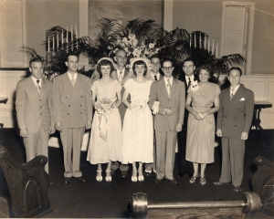 Tom and  Helen Brown Wedding, June 30, 1950